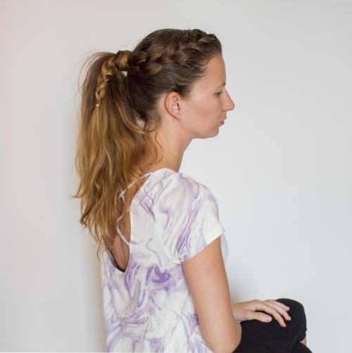 French Pull Back into Pony Tail