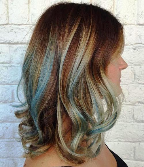 Gimme the Blues: Bold Blue Highlight Hairstyles