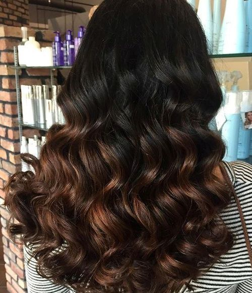 negro a chocolate ombre